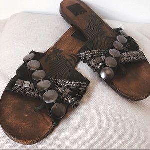 Dolce Vita Black Suede Stud Embellished Sandals